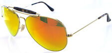 RAY BAN 3029 62 OUTDOORSMAN II GOLD HAVANA LENS ORANGE MIRROR REMIX SPECCHIO
