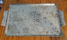 Vintage Wendell August Forge Aluminum Dogwood Pattern Large Serving Tray