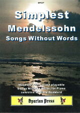 Simplest Mendelssohn Songs Without Words (Piano Solo) SP627
