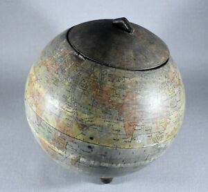 ANTIQUE HUNTLEY & PALMERS BISCUITS GLOBE TIN 1906