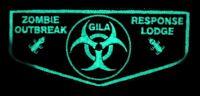 GILA LODGE 378 YUCCA TX 2015 NOAC OA 100TH CENTENNIAL FLAP DELEGATE ZOMBIE GLOWS