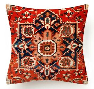 """PILLOW COVER Tapestry Kilim Rug DIGITAL PRINT Double-Sided Cushion Case 18x18"""""""