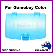 Nintendo Gameboy Color Battery Replacement Cover (lid) Transparent Clear Blue