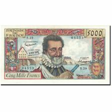 Billets, France, 5000 Francs, 5 000 F 1957-1958 ''Henri IV'', 1957 #600529