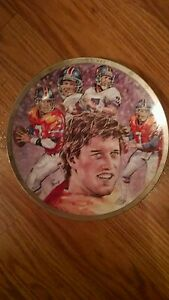 """John Elway """"Sports Impression"""" 8 3/8 Inch collector plate ~"""