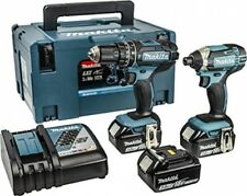 Makita 18V Combi Drill and amp; Impact Driver Twin Pack 3 x Batteries and Set