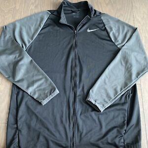 Nike Epic Knit Full Zip Dri-Fit Training Jacket Men Black Grey 928026 010 2XLT