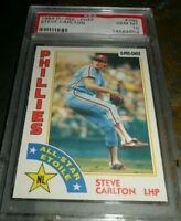 1984 O-PEE-CHEE OPC #395 STEVE CARLTON PHILADELPHIA PHILLIES HOF PSA 10 GEM MINT