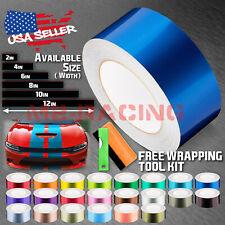 Gloss Metallic Racing Stripes Vinyl Wrap Glossy Rally Sticker 10/20 Feet Long
