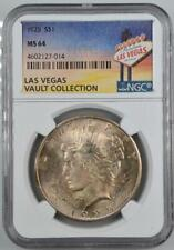 1925 Peace Silver Dollar NGC MS 64 Las Vegas Vault Collection Home of Binion