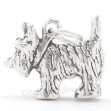 3D WIZARD of OZ TOTO Cairn Terrier Dog Charm Pendant Solid 925 STERLING SILVER