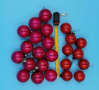 Lot of 24 Vintage Glass Shiny Brite Christmas Tree Mini Ornaments Red and Pink