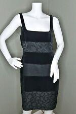 Escada Margaretha Ley Womens Sleeveless Velvet Shift Dress Black Sz EU 34 US 4