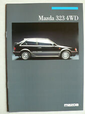 Prospekt Mazda 323 4WD turbo GT/GTX, 1.1987, 20 Seiten, enthält Farben