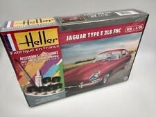 Maquette Jaguar type E 3L8 FHC avec colle peintures Heller France echelle 1:24