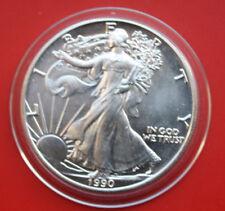 """Amerika: 1 Uz.-Oz """"Silver Eagle""""  1990 ST-BU,  #F 2044"""