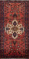 Vintage Floral Hamedan Traditional Area Rug Wool Handmade Oriental Carpet 4x7 ft