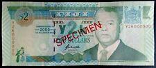 Fiji, 2 dollars, Specimen, 2000, Pick 102s, UNC Commemorative, Sign: Kubuabola