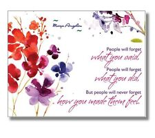 MAYA ANGELOU quote 20 POSTCARD SET Stationary / Notecards / Postcards / Cards