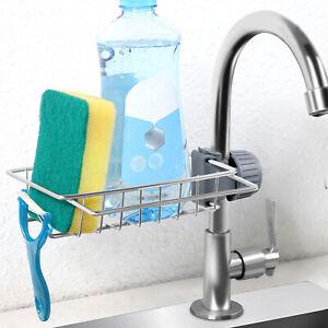 Sponge Dishcloth Holder Sink Caddy Basket Drain Rack Kitchen Storage Organizer
