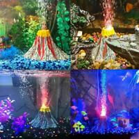 Aquarium Aquarium Dekoration Vulkan Stil Ornamente LED-Licht mit D5X1