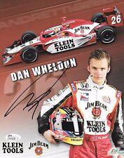DAN WHELDON Signed Autograph Stat 8x10 Photo INDY IRL JSA COA