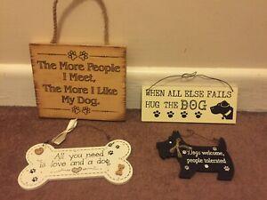 Home Decor Dog Signs x4