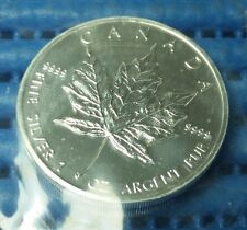 1991 Canada $5 Maple Leaf 1 oz 9999 Fine Silver Coin in Original Mint's Pack