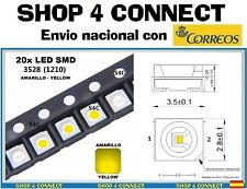 20 Diodos LED SMD AMARILLO YELLOW 3528 / 1210 CAR automocion ARDUINO 3.5 x 2.8 *