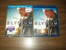 ELYSIUM BLURAY & DVD WITH SLIPCOVER MATT DAMON JODIE FOSTER