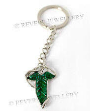 Elven Leaf Brooch KEYCHAIN Gift KEY RING Hobbit LOTR Arwen Lord of the Rings