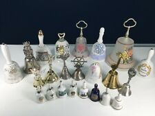 Vtg & Modern Lot 23 Souvenir State Decorative Ceramic Glass Metal Bells Brass