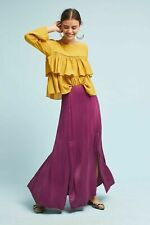 Anthropologie BL-NK SIDONE Slinky Split Maxi Skirt Purple Size XL RRP £118 NEW