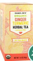 VALUE 2 PACK Trader Joes ORGANIC GINGER TURMERIC HERBAL TEA Caffeine
