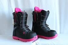 Burton Mint Black Hot Pink Snowboard Boots Women's Size 9 Laces MSRP $179.95
