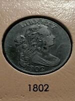 1802 Draped Bust Large Cent 1c 1/000 S-228 R2 Ch VF+ Beautiful and RARE Coin!!!