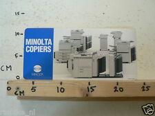 STICKER,DECAL MINOLTA COPIERS JAPAN LARGE