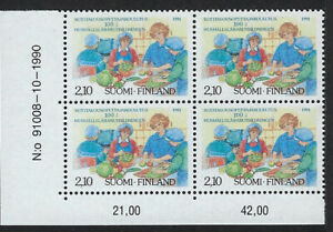 FINLAND : 1991 Centenary of Domestic Science Teachers SG 1247 MNH block of four