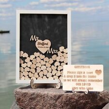 Personalized Wedding Guest Book Rustic Drop Top Box Wedding Signature Heart Gift