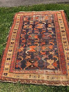 Vintage Small Rug  Turkish Rug  Doormat Rug Bahtmat Rug  3.9x1.5 Feet Rug  Antique Rug  Rug For Kitchen  Area Rug  Faded Wool Rug