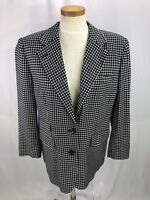 Ralph Lauren Women's Blue Plaid Rayon Blazer Jacket 12