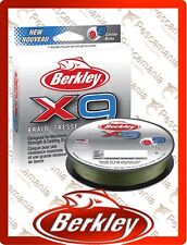 Trecciato Berkley X9™ Braid Low Vis Green multifibra 165 Yards - 150mt