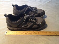 SKECHERS SN51362 DUAL-LITE Men's Leather/Synthetic Athletic Shoes US 8.5 Gray