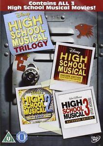 High School Musical Trilogy 1, 2 & 3 DVD R2 New disney Original movie