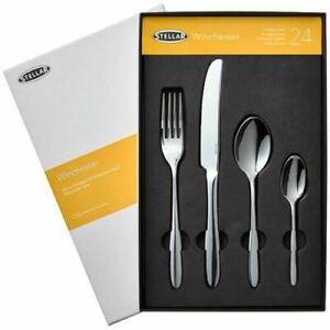 Stellar Winchester 24 Piece Cutlery Gift Box Set Lifetime Guarantee BW50