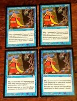 4x Command of Unsummoning x4 Portal NM/M Unplayed Vintage MTG & Free/Fast Ship!