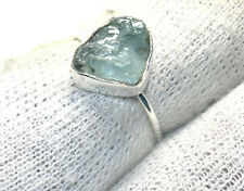 Natural Aquamarine Gems Ring 925 Sterling silver Aquamarine Ring Size 6 Spj-215