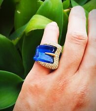 Ring of Style - Diamond buckle on blue belt