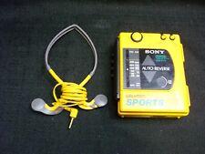 Sony Walkman Sports Wm F73 Am/Fm Radio Cassette Player Semi Working Parts/Repair