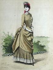 Fashion Moda Robe Legrand Parigi Elegante Gourbaud Litografia 19e